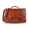 Frank Clegg Cognac American Alligator English Briefcase