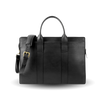 Frank Clegg Black Double Gusset Zip-Top Briefcase