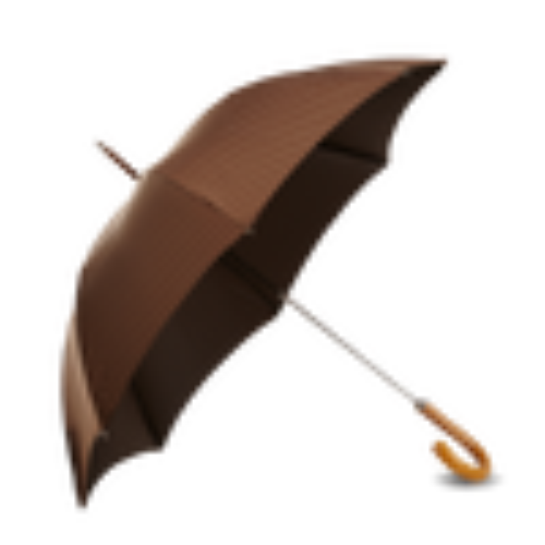 Brown Pinstripe Umbrella