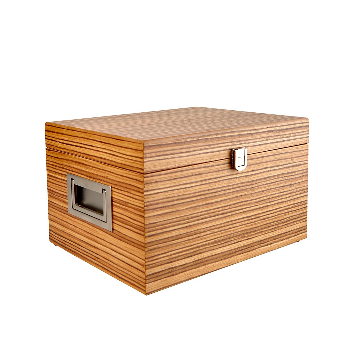 Shoe Polish Box Zebrawood