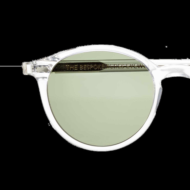 The Bespoke Dudes Cran Transparent With Bottle Green Lenses