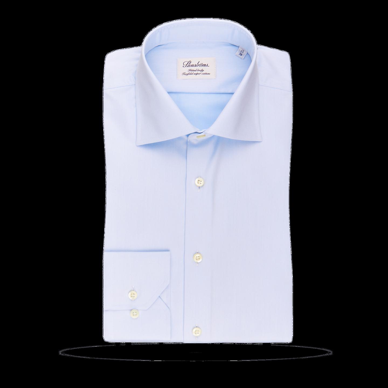 Stenströms Light Blue Fitted Body Single Cuff Shirt