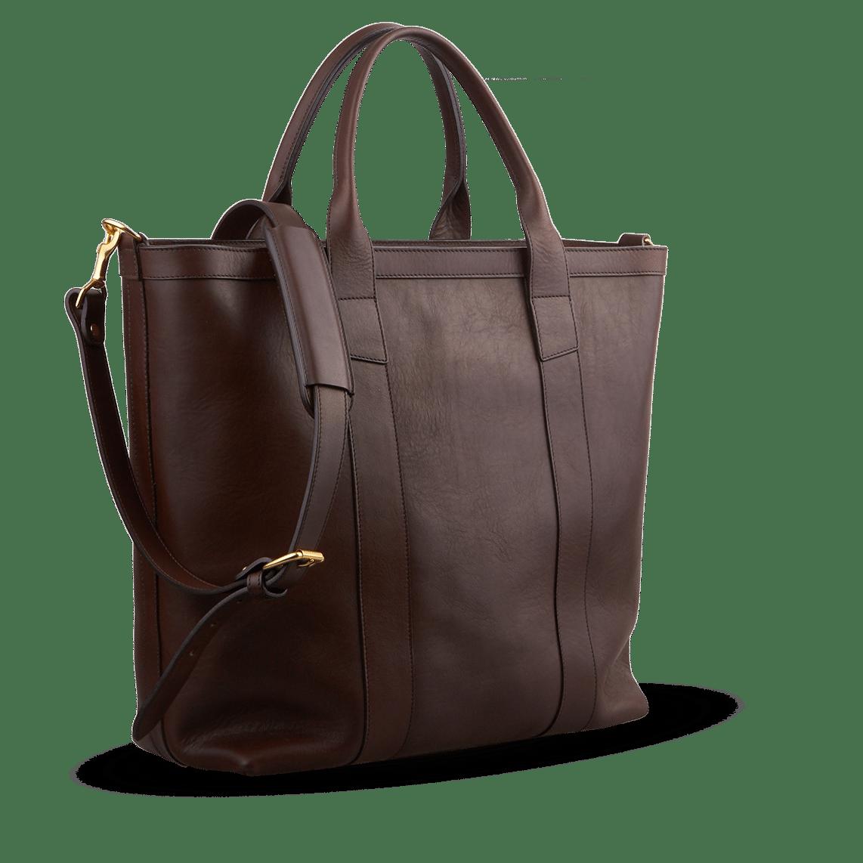 6b5f2394fe1b frank clegg chocolate zip top tote bag angle1