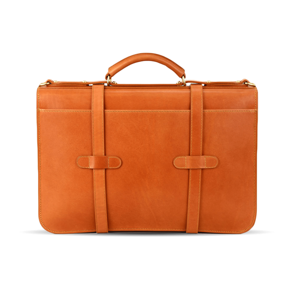 frank clegg tan english briefcase back
