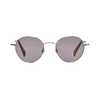 The Bespoke Dudes Vicuna Silver With Gradient Grey Lenses