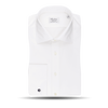 Stenströms White Fitted Body Double Cuff Shirt Front