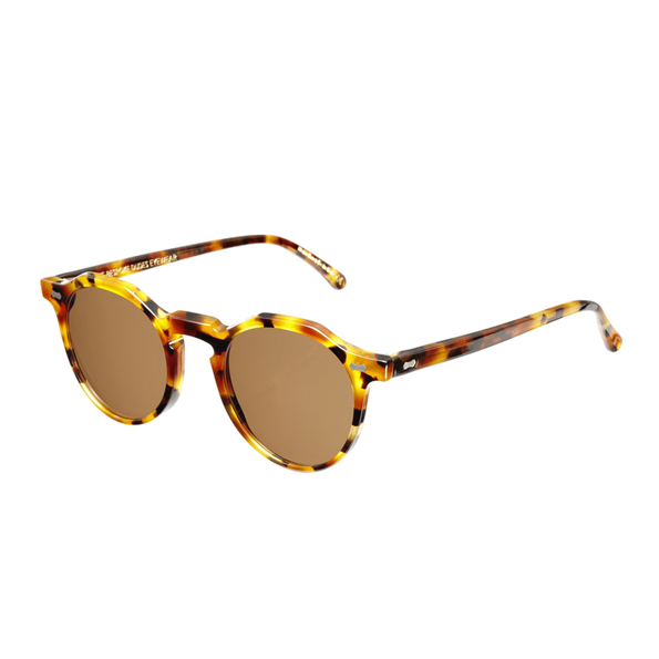 Lapel Amber Tortoise with Tobacco Lenses