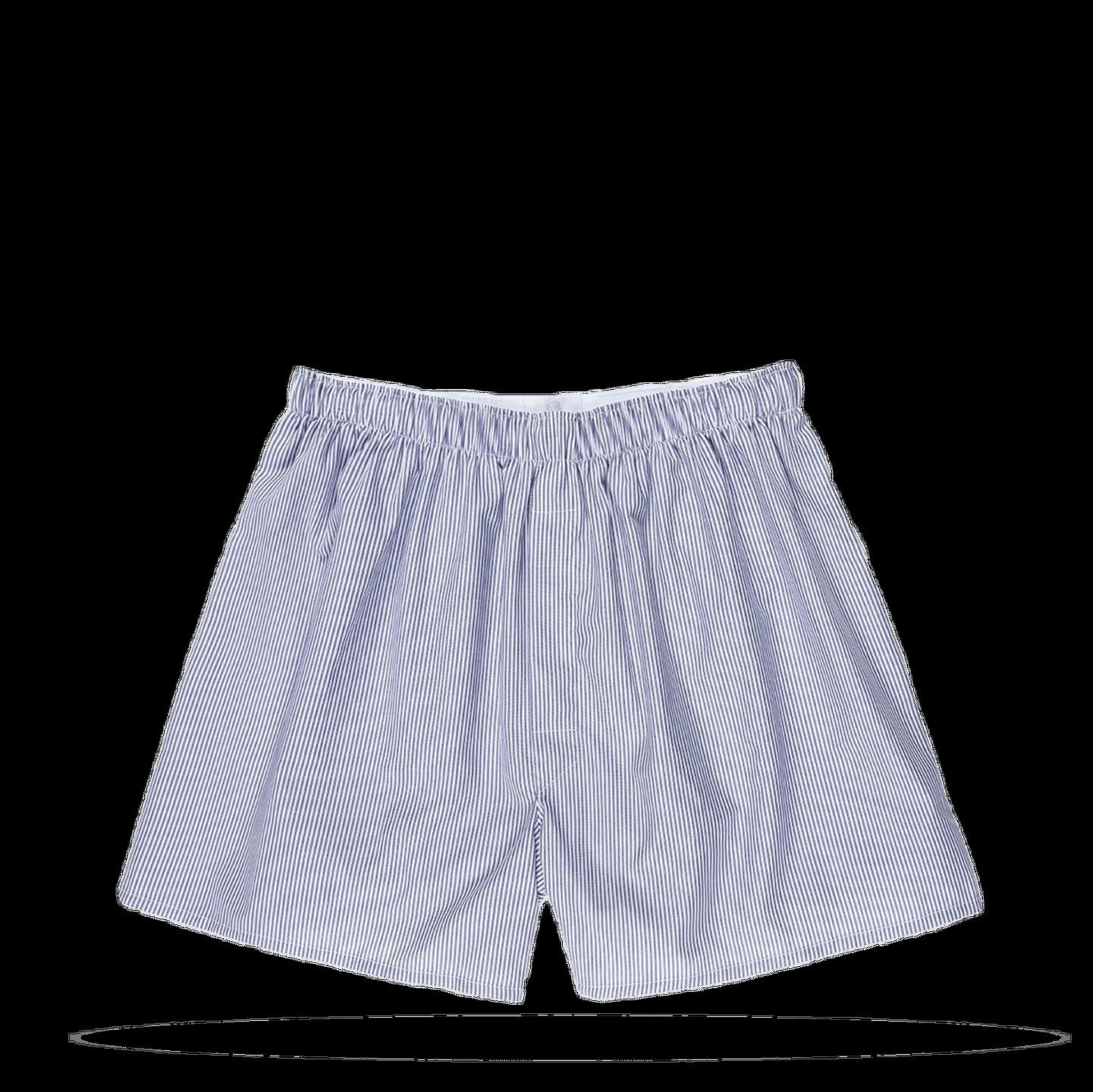 Navy Blue Pinstripe Boxer Short