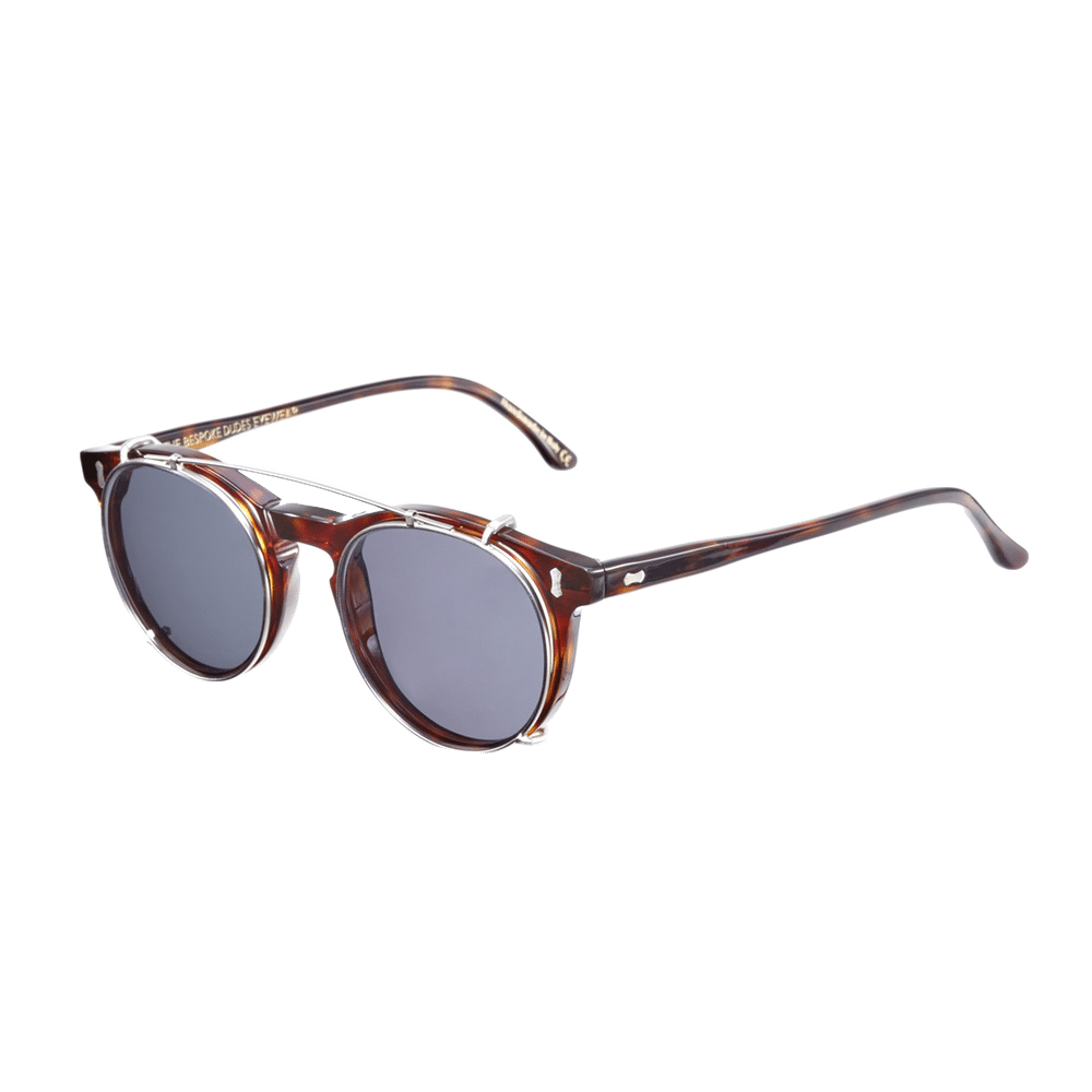Pleat Classic Tortoise With Gradient Grey Lens
