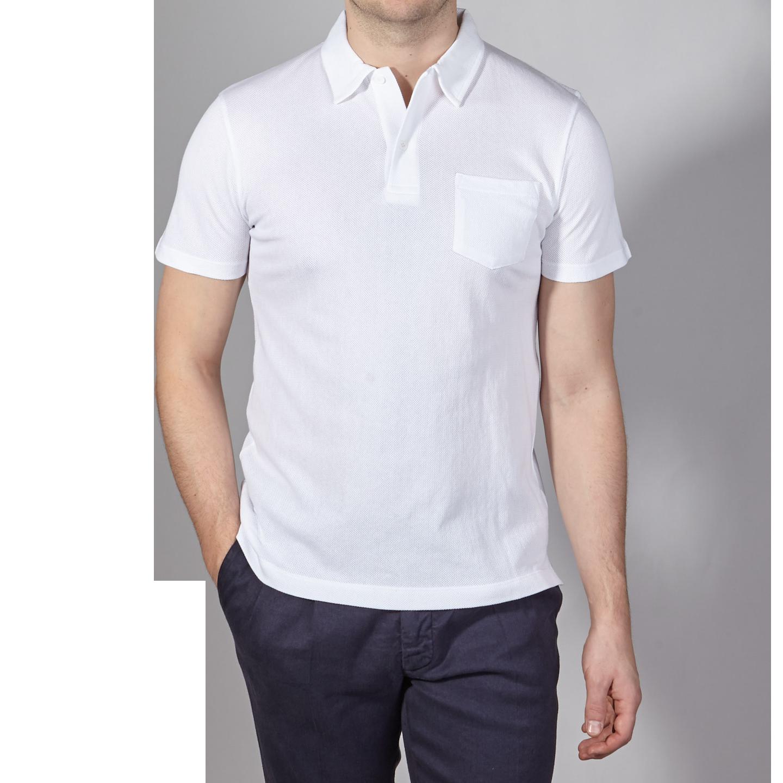 a600ac76 Sunspel - White Short Sleeve Riviera Polo | Baltzar