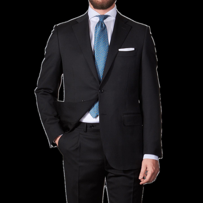 Black Single Breasted Notch Lapel Suit