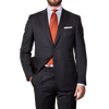 Grey Single Breasted Notch Lapel Suit