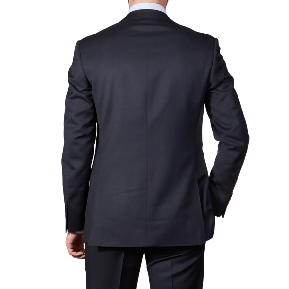 Navy Single Breasted Notch Lapel Suit