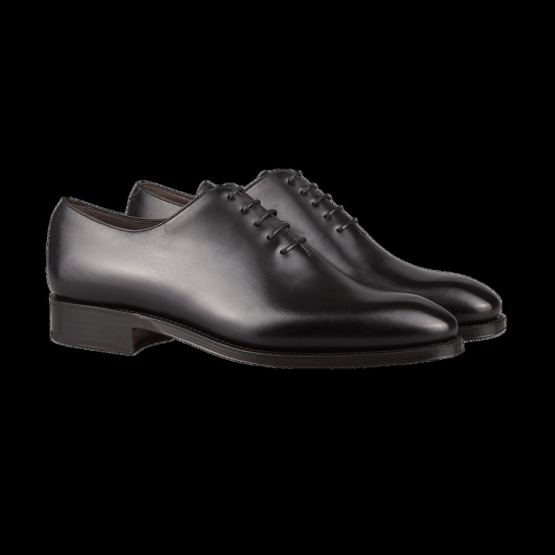 Black Calf Rain Wholecut Oxford Shoes