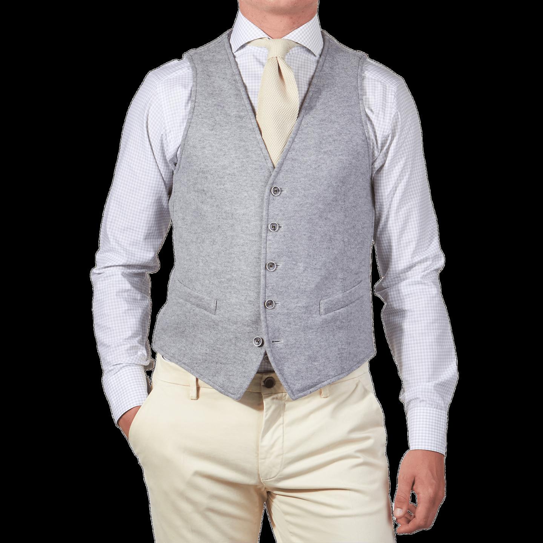 Grey Jersey Waistcoat