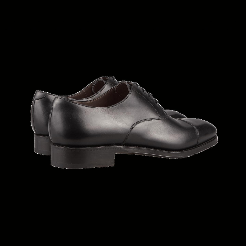 Black Calf Rain Captoe Oxford Shoes