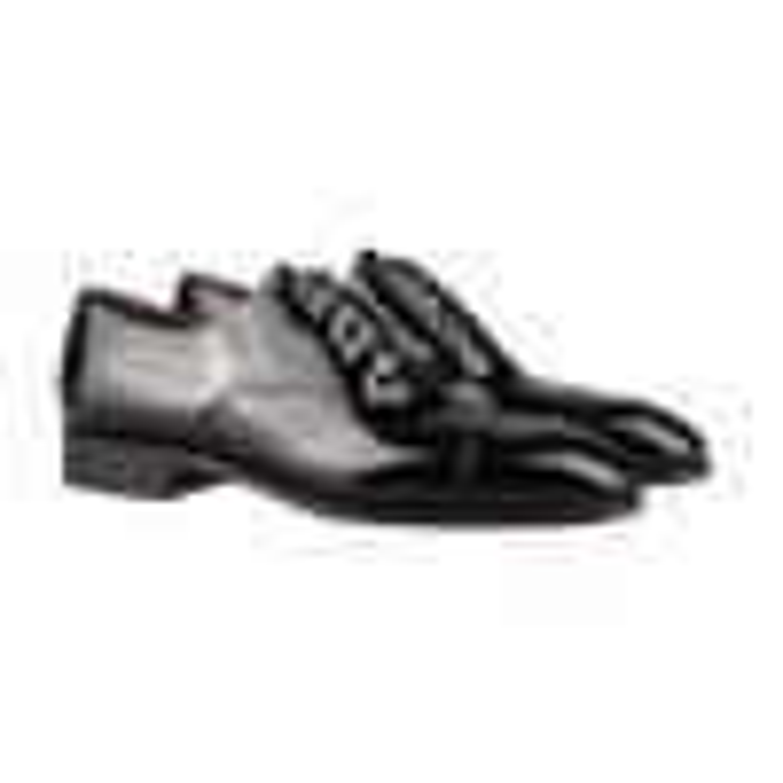 Black Simpson Patent Leather Oxford Shoes