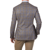Ring Jacket Brown Sports Blazer with Aqua Blue over check