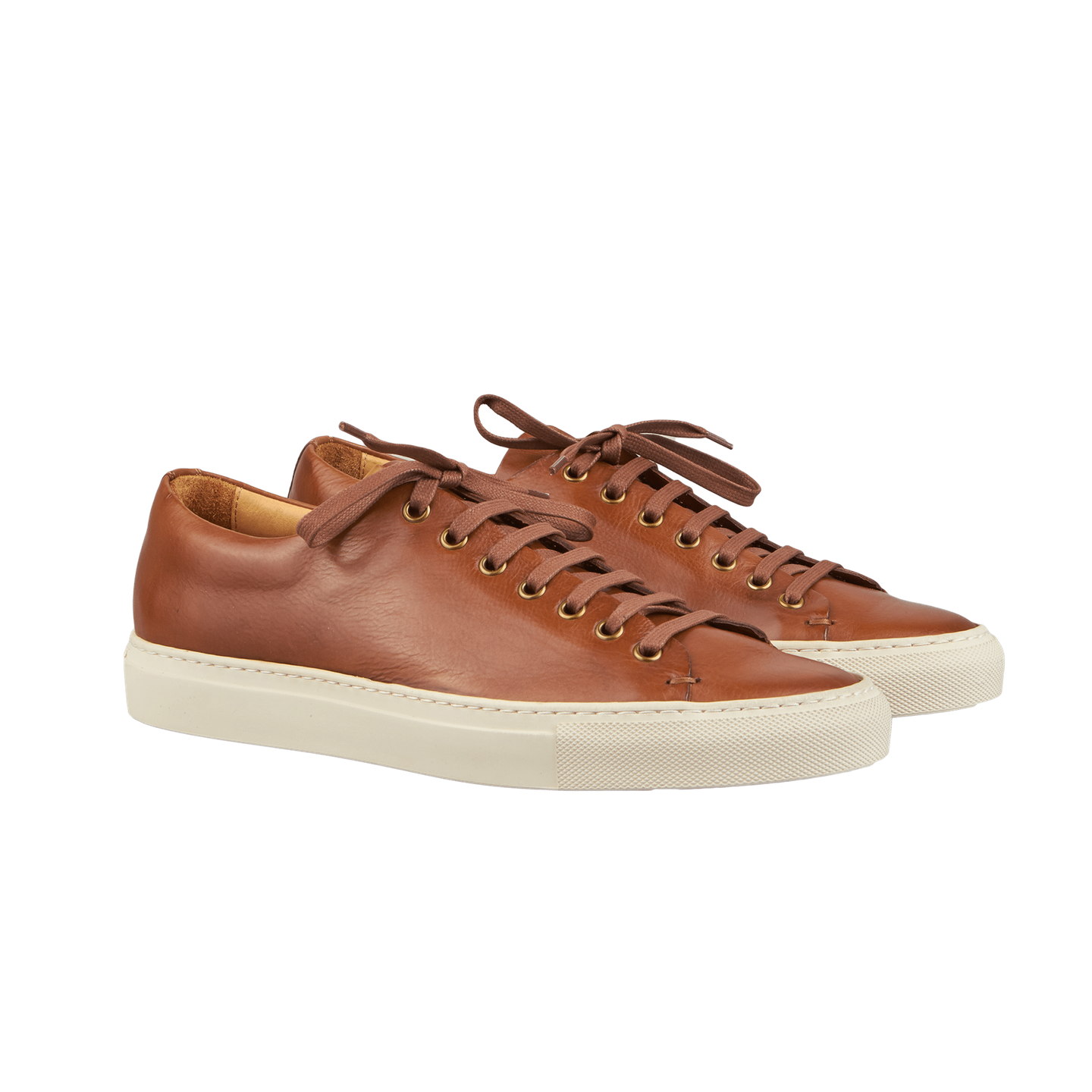 Chestnut Low Leather Sneakers