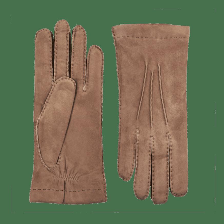 Clay Cashmere Hairsheep Suede Handsewn Gloves