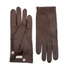 Siena Drak Brown Peccary Unlined Palm Button Gloves Open