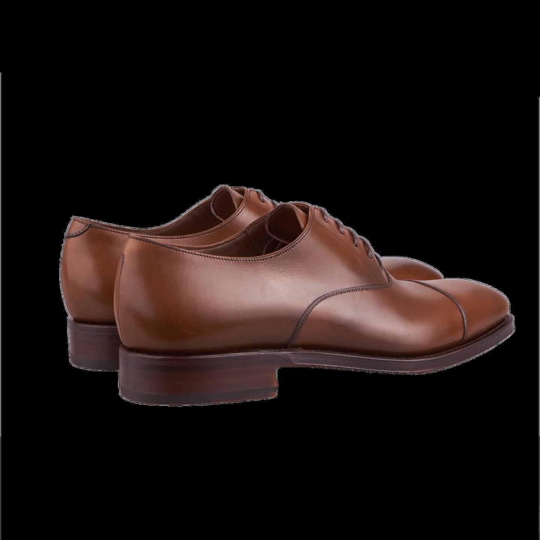 Mid Brown Captoe Calf Oxford Shoes