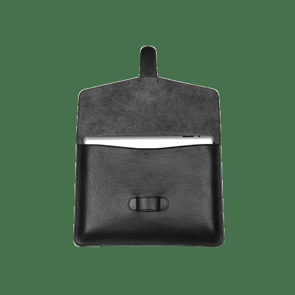 Black Smooth Tumbled Leather Ipad Case