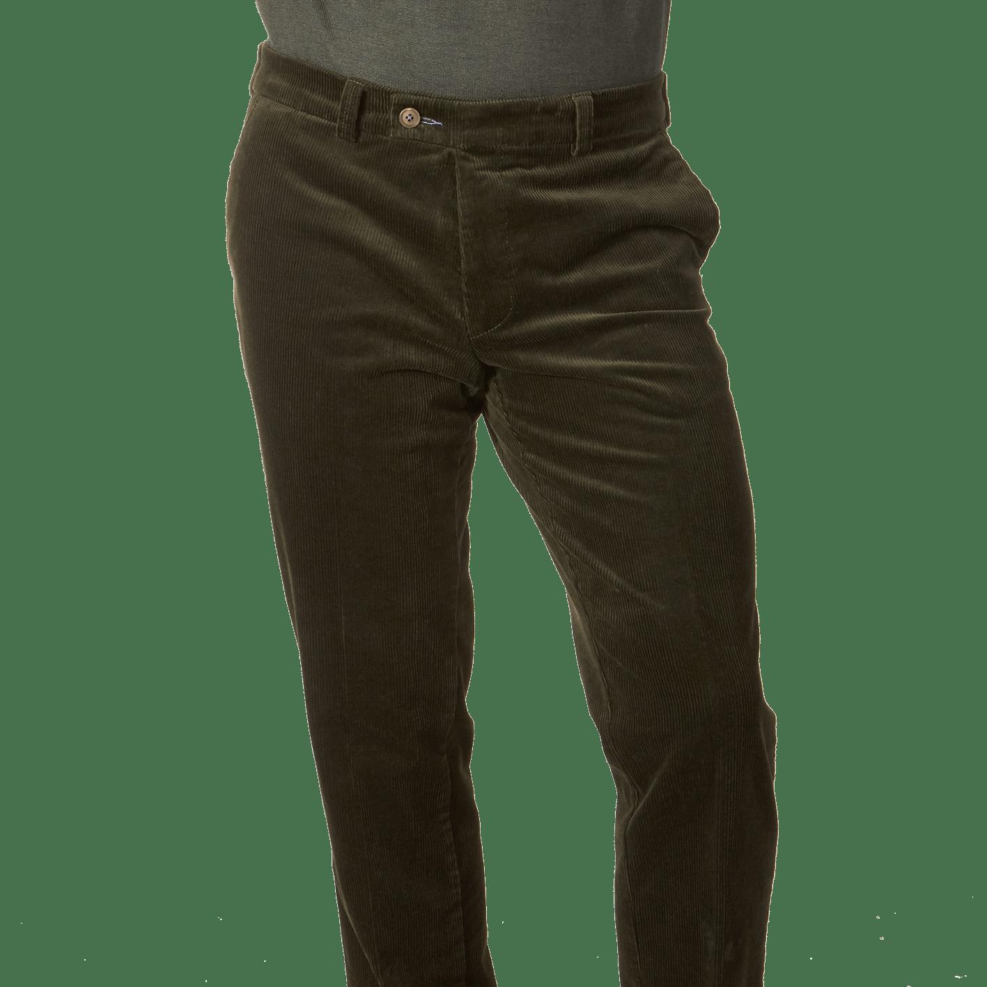 Green Cotton Stretch Corduroy Palma Trouser