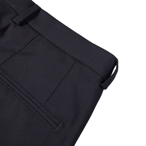 Oscar Jacobson Navy Damien Wool Suit Trousers Pocket