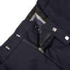 Oscar Jacobson Navy Damien Wool Suit Trousers Zipper