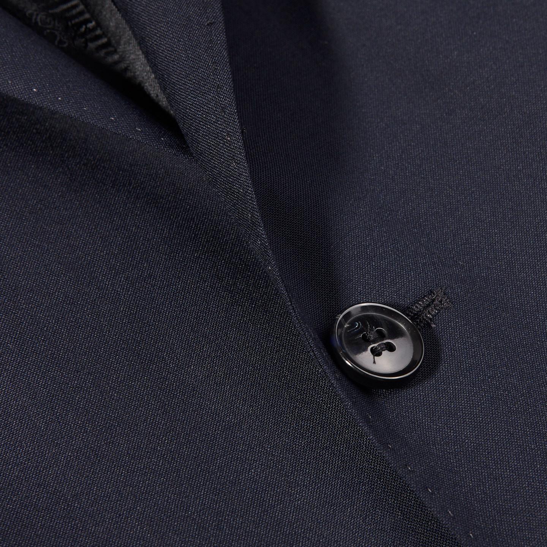 Oscar Jacobson Navy Edmund Wool Suit Jacket Closed