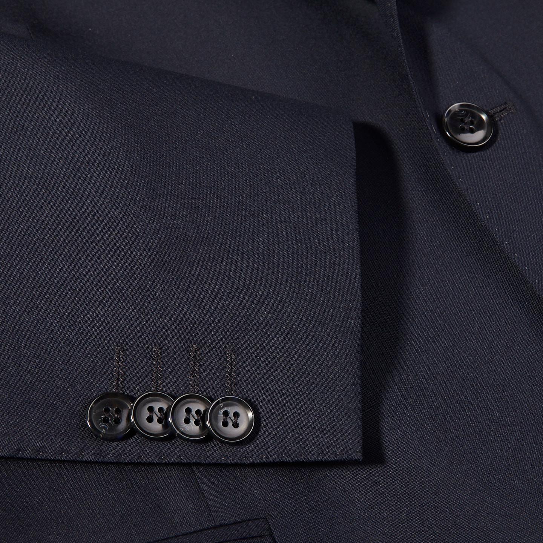 Oscar Jacobson Navy Edmund Wool Suit Jacket Cuff