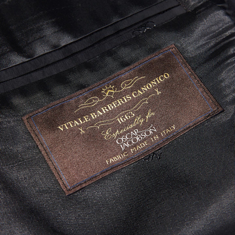 Oscar Jacobson Navy Edmund Wool Suit Jacket Tag
