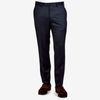 Tagliatore Navy Flat Front Super 110s Wool Suit Trousers Front