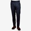 Tagliatore Navy Pleated Super 110s Wool Suit Trousers Front