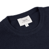 Baltzar 1906 Navy Cashmere Crew-Neck Sweater Collar