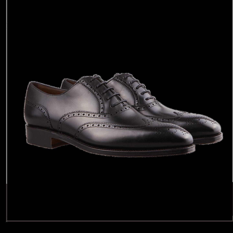 Carmina Black Full Brogue Oxford Shoes Front