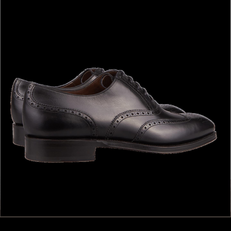 Carmina Black Full Brogue Oxford Shoes Back