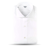 Mazzarelli White Slimline Herringbone Shirt Feature