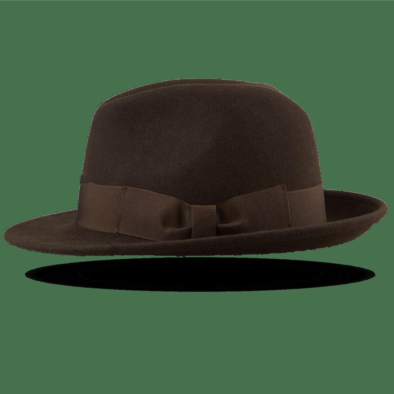 Brown Fedora Hat Left