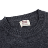 William Lockie Dark Grey Crew-Neck Lambswool Sweater Collar