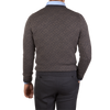 William Lockie Grey Fair Isle Lambswool Sweater Back
