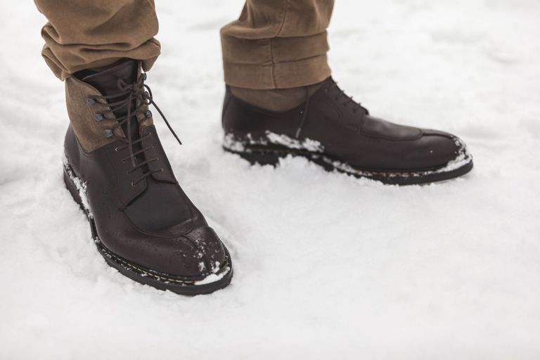Brown Heschung Ginkgo Boots In Snow