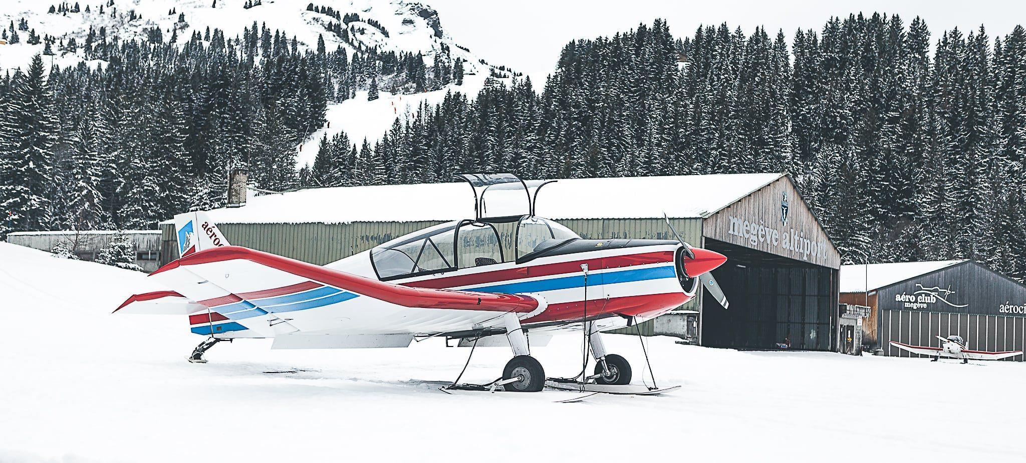 Megève Altiport Airplane.