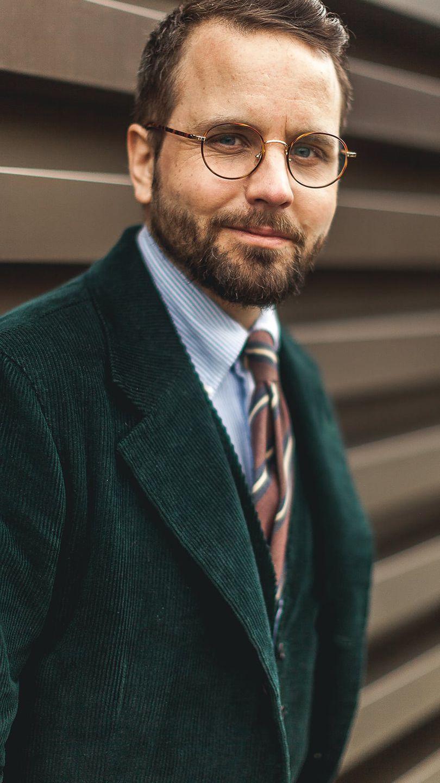 Erik Mannby Editor in chief at Plaza Uomo at Pitti Uomo 93