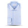 Eton White And Blue Checked Slim Shirt Feature