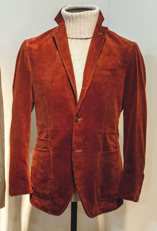 Red Ring Jacket Corduroy Blazer