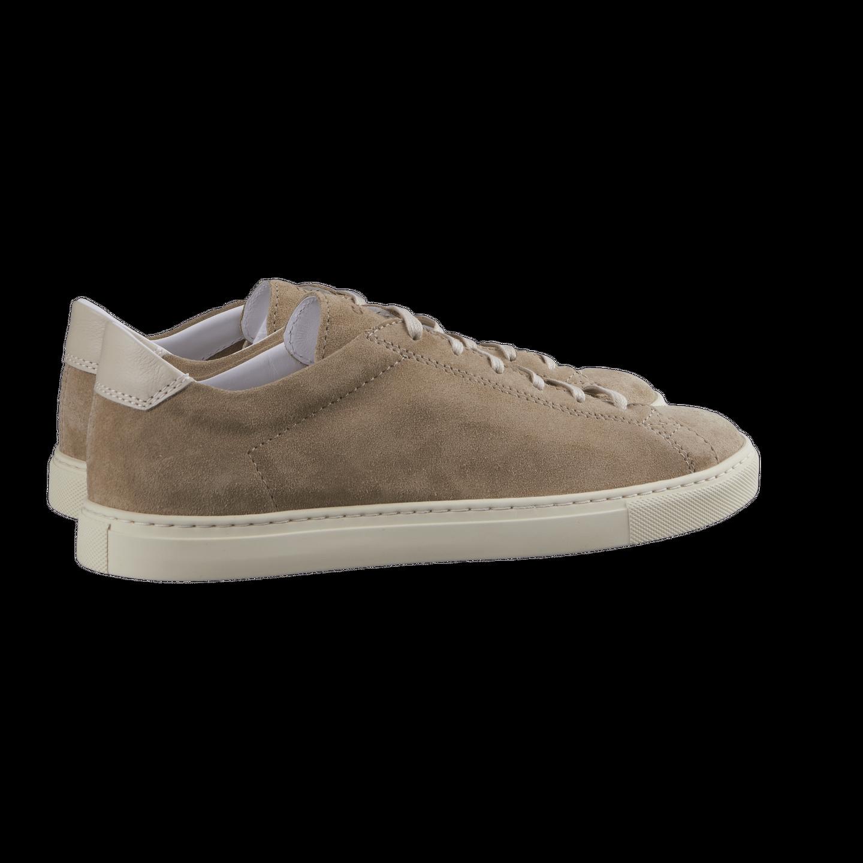 CQP Beige Suede Racquet Sneakers Back