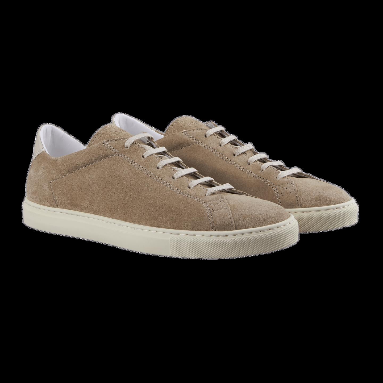 CQP Beige Suede Racquet Sneakers Front