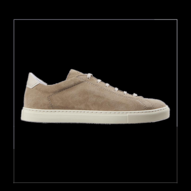 CQP Beige Suede Racquet Sneakers Side